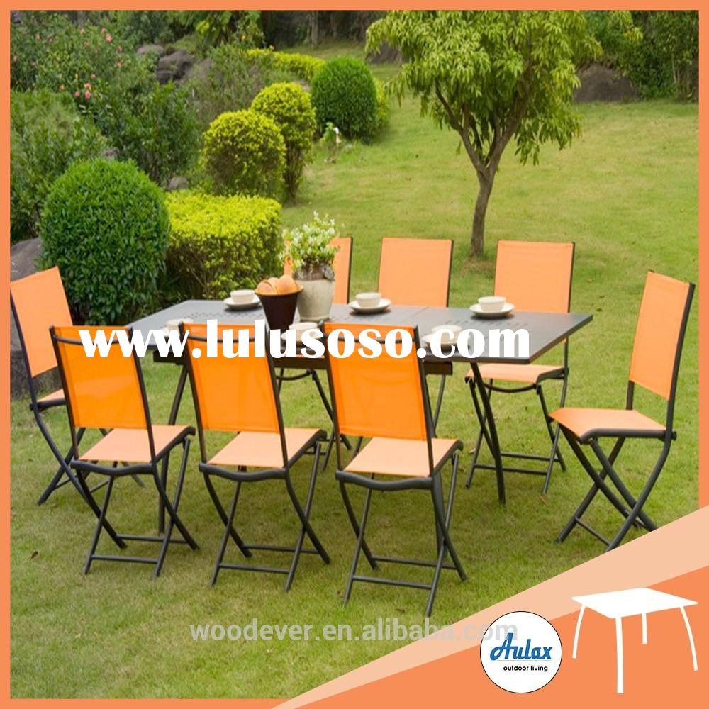 8 seater garden wrought iron modern dining room furniture
