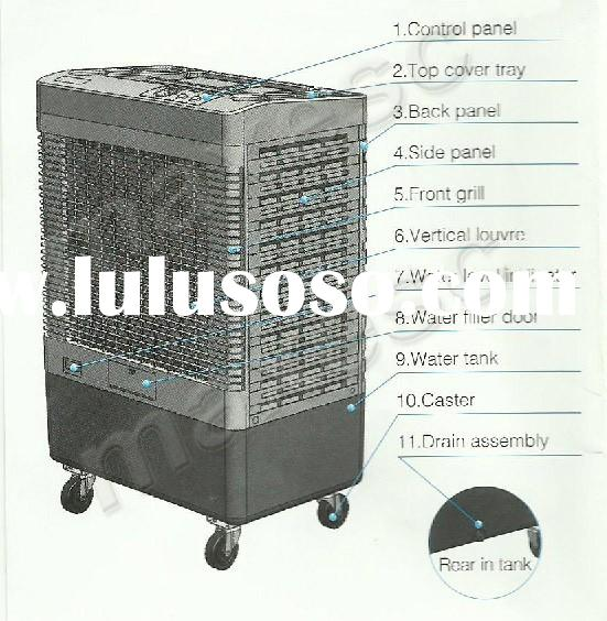 CE portable cooler gree 18000m3/h water cooled portable air conditioner