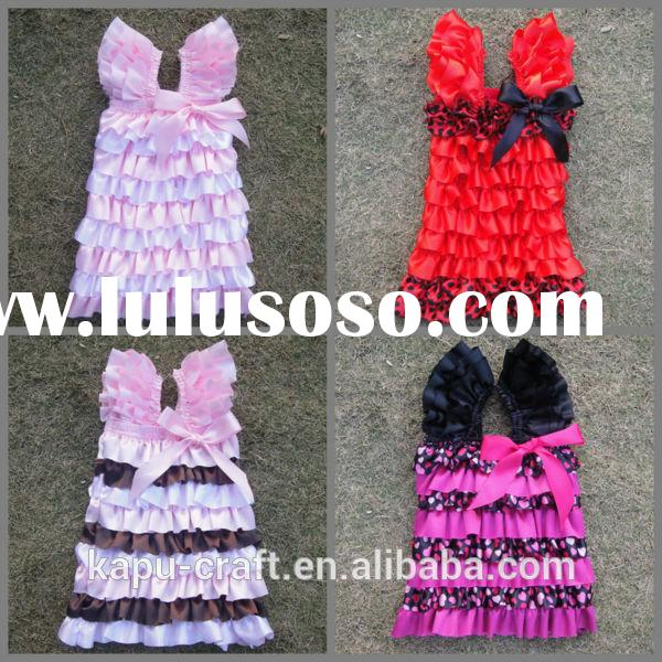 Hot sale china factory custom petti princess dress for girl princess flower dresses Smocked dress to
