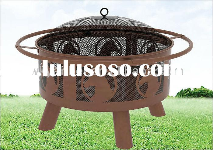 Hot Selling! Round Metal Fire Pit Rings Pellet Stove with Boiler