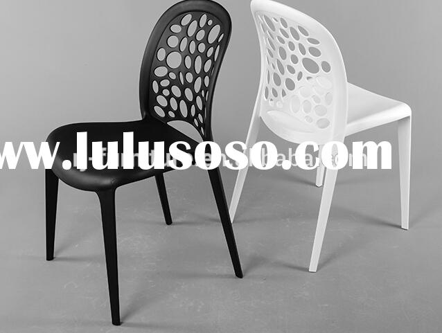 Modern outdoor stackable plastic chair