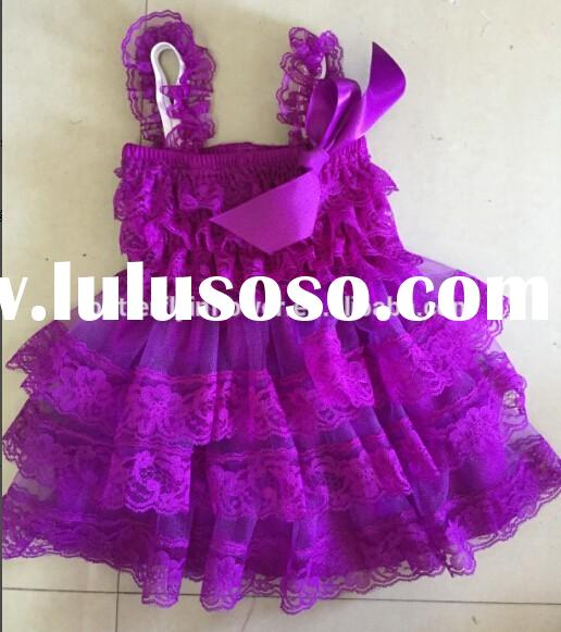 Purple flower girl Dress Kids Clothing Fashion New 2015 Summer dresses for Girls Toddler Princess Dr