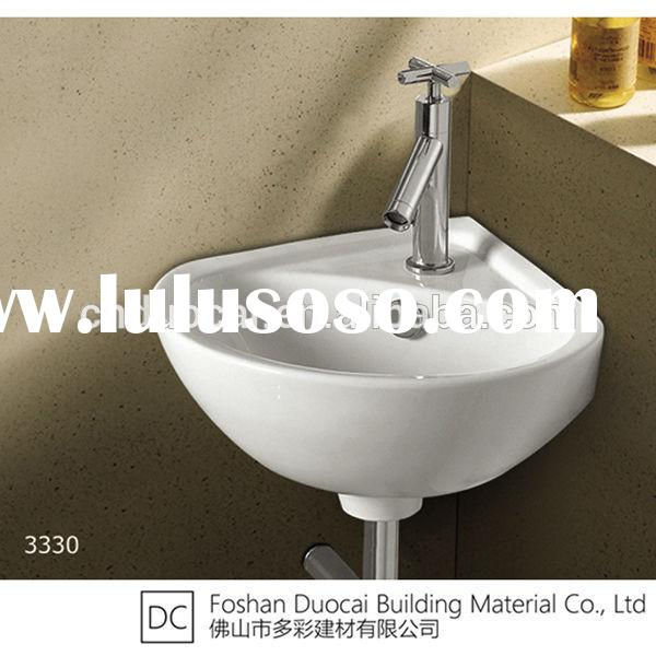 Space-Saving Ceramic Bathroom Small Size Corner Wall Hung Sink (ET-J3330)