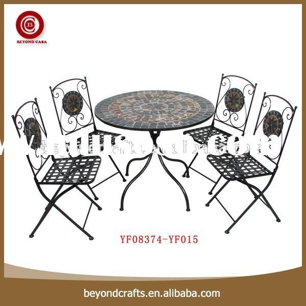 Wholesale good quality hot sale wrought iron dining room furniture