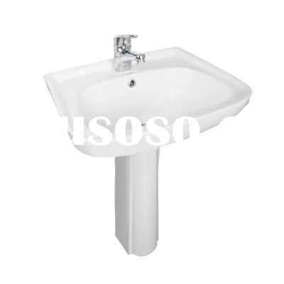 bathroom small wash basin sink, ceramic basin with pedestal