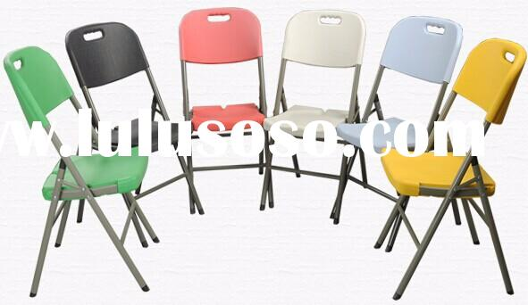 china wholesales HDPE blow molding stackable portable used outdoor leisure plastic folding chairs