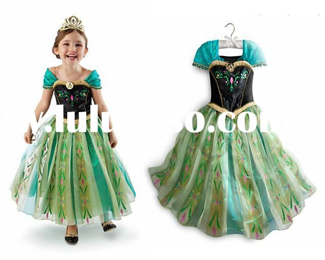 new 2015 Custom-made Movie Cosplay dress summer girl dress Costume Princess Elsa Dress from Frozen f