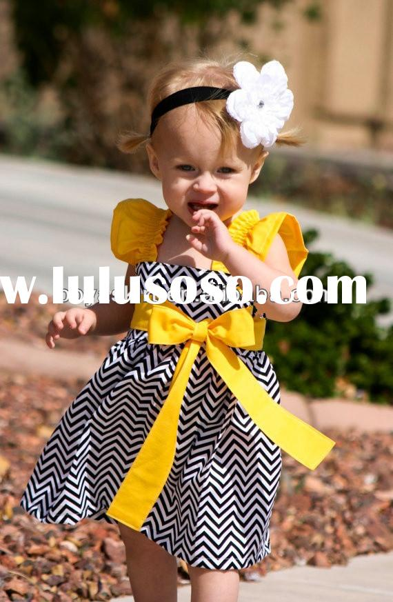 orange and white black wedding dresses for baby cute kid girl chevron princess dress baby clothes to