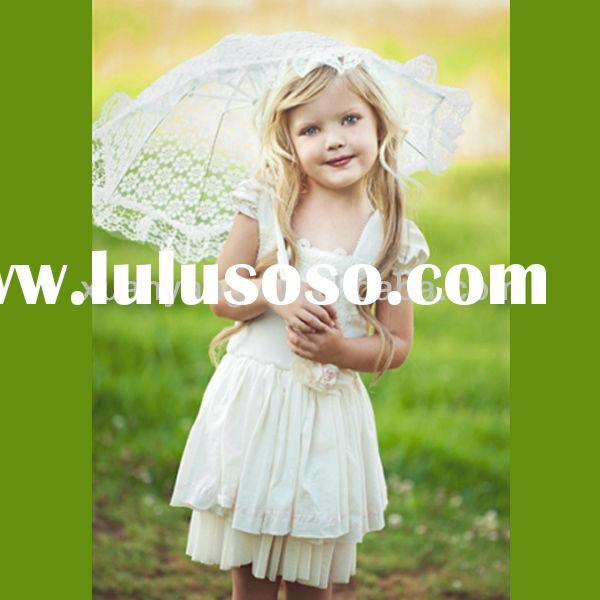 vintage summer cap sleeve cream and sugar princess dress for toddler girl