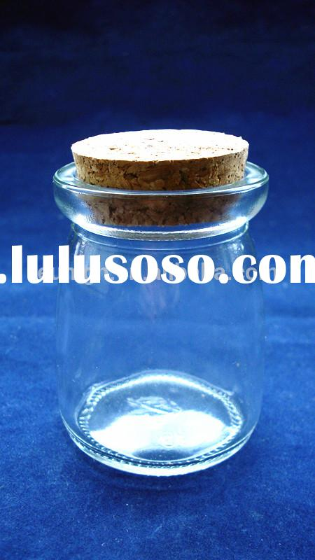 100ml Mini Small Dessert Pudding Favor Milk Spice Bottles Glass Jars with Cork or Cap Cover