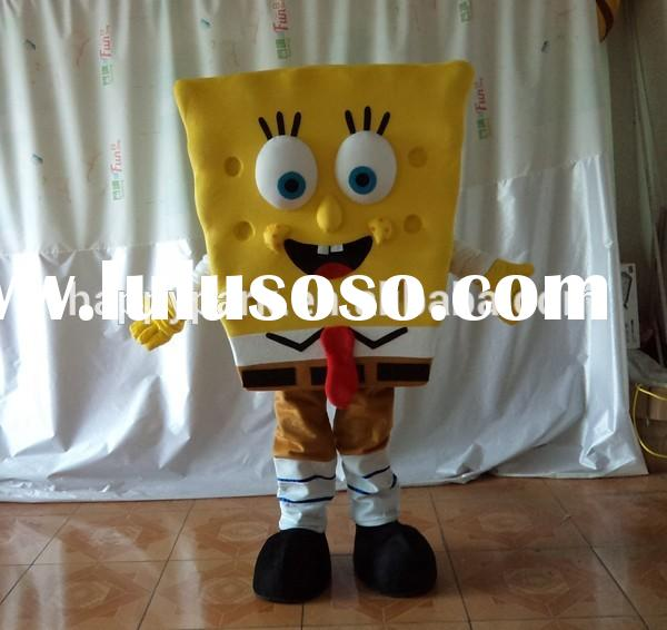 2015 cheap shipping cost spongebob mascot costume for sale