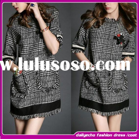 2015 Fashion spring Casual dress for Women with the popular desgin and medium sleevess