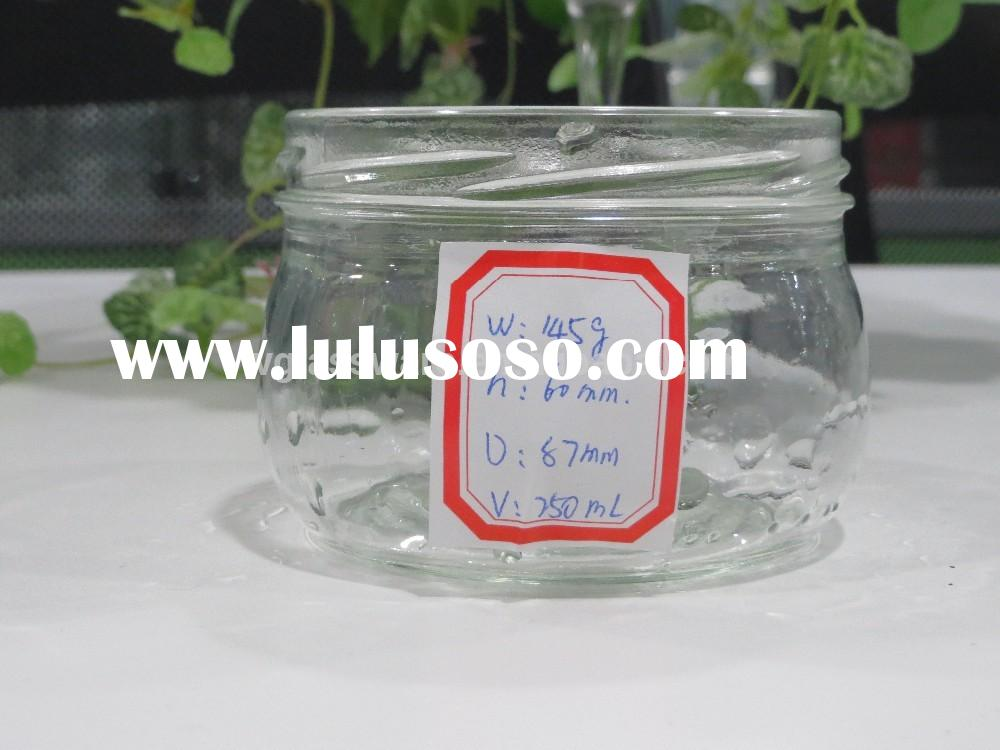 8oz big mouth honey glass jar with metal lid