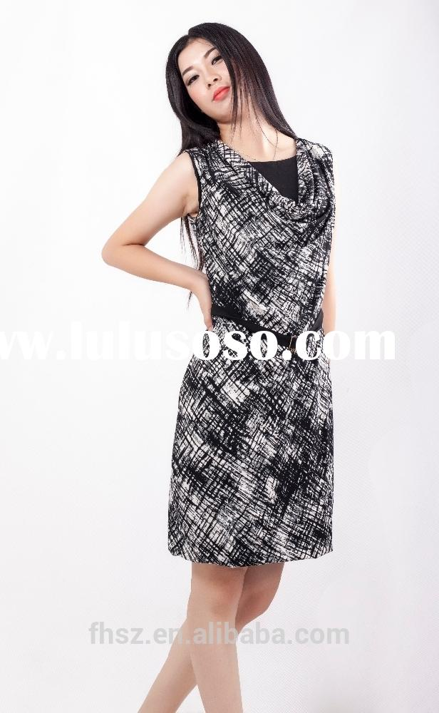 Alibaba supplier for sleeveless midi casual women dress