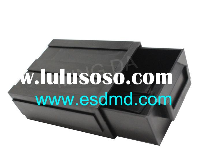 ESD Storage Component Box, ESD box for electronic component / plastic stackable storage drawers/esd