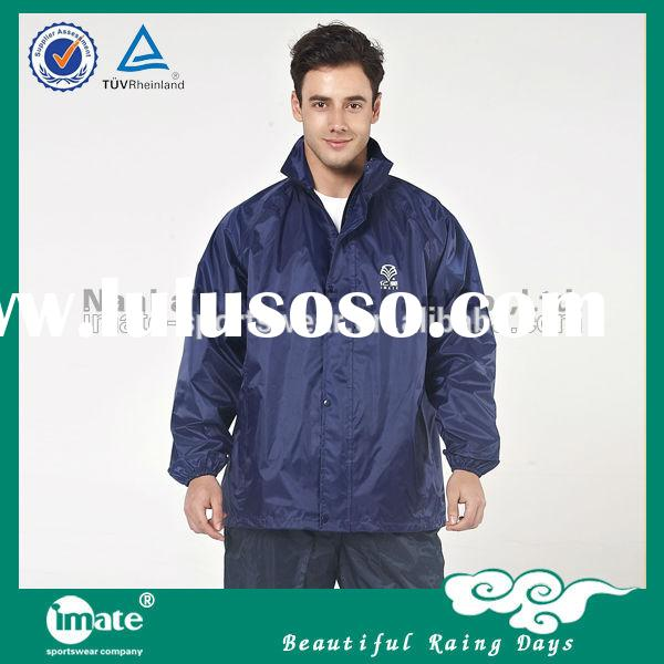 Fashional designed waterproof pvc raincoats for men