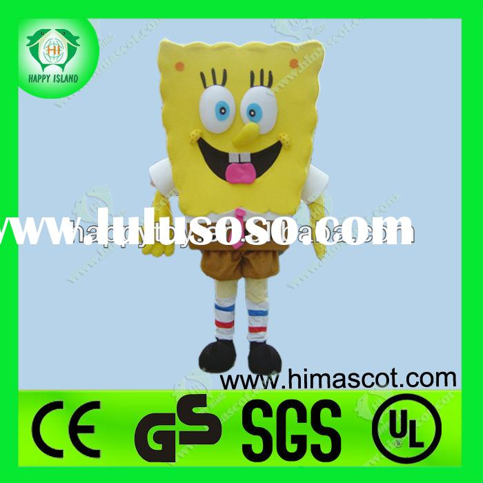 HI CE lovely yellow spongebob mascot costumes for sale