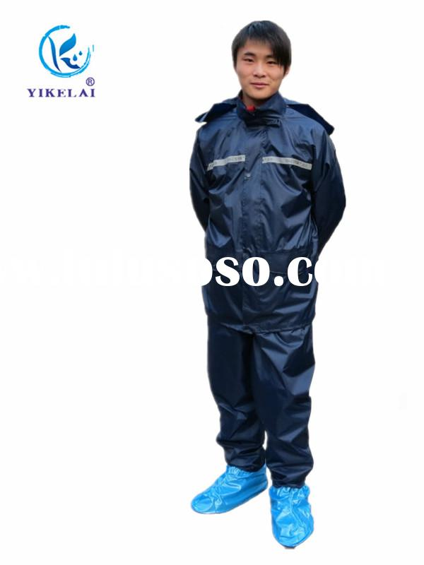 High quality PVC bike two piece men black raincoat for sale