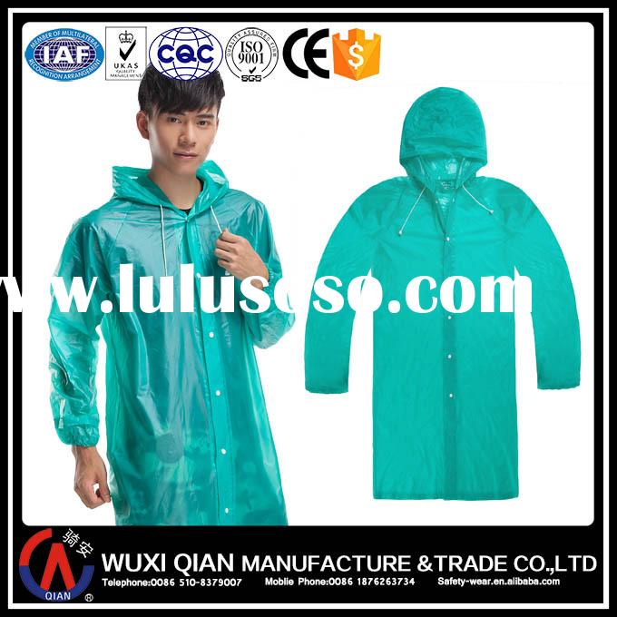 Hot sell cheap colorful PVC transparent portable waterproof raincoat for man and women