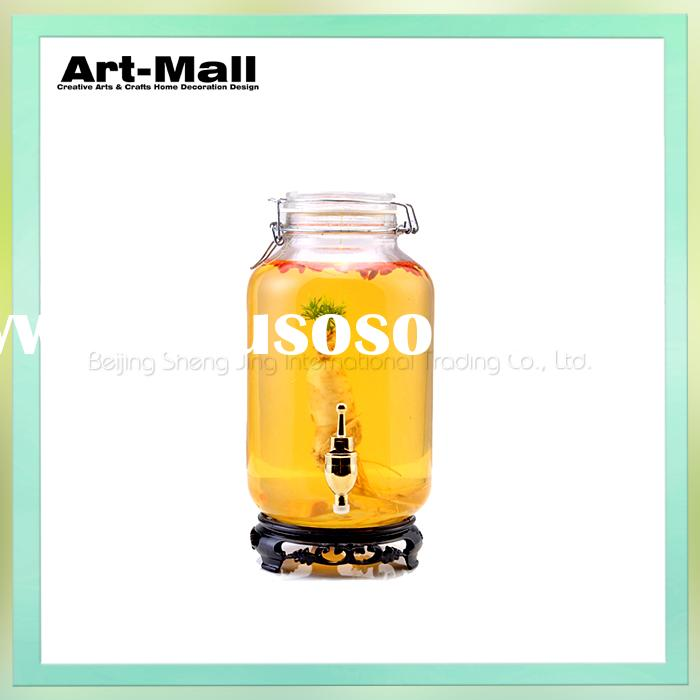 New arrival factory directly selling small clear glass jars with lid