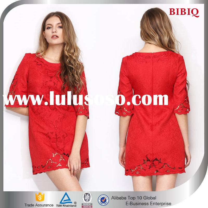 OEM Half Sleeves Loose Short Dress , Casual Dresses for Women Wholesale
