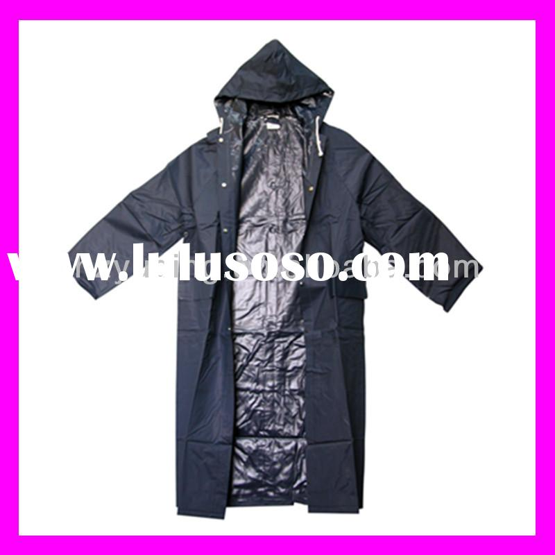 PVC Raincoat/0.32mm polyester pvc raincoat for men