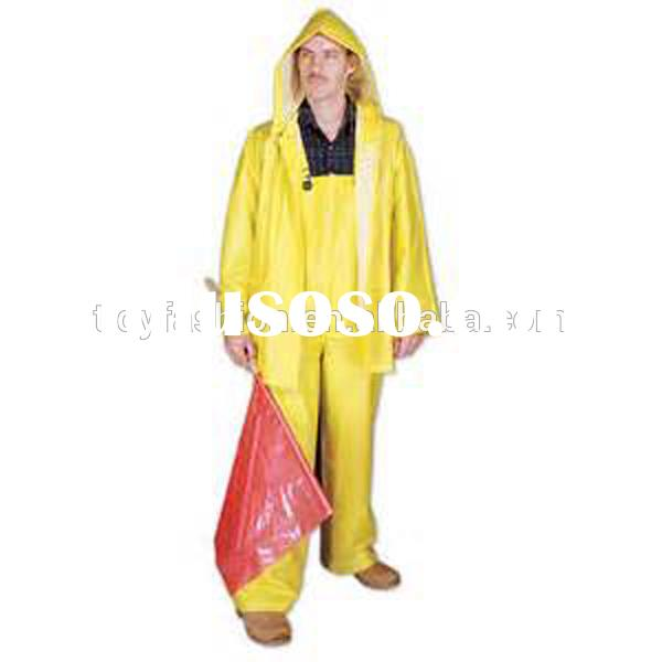 Plastic Long PVC Mens Yellow Raincoat For Shoes