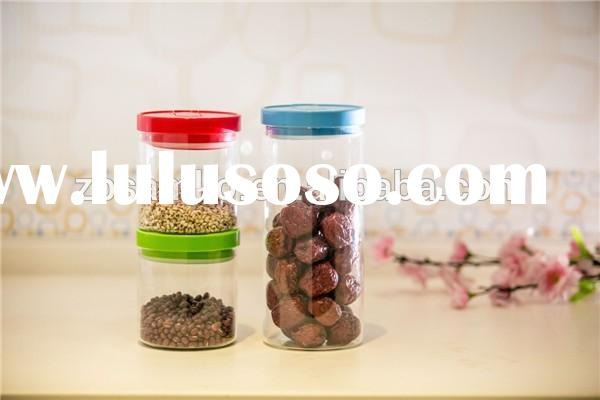 Small glass food jar with PP lids for kitchenware