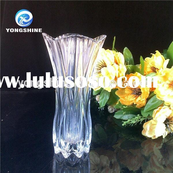 Tall clear glass vases for wedding centerpieces ,fancy glass vase for flowers