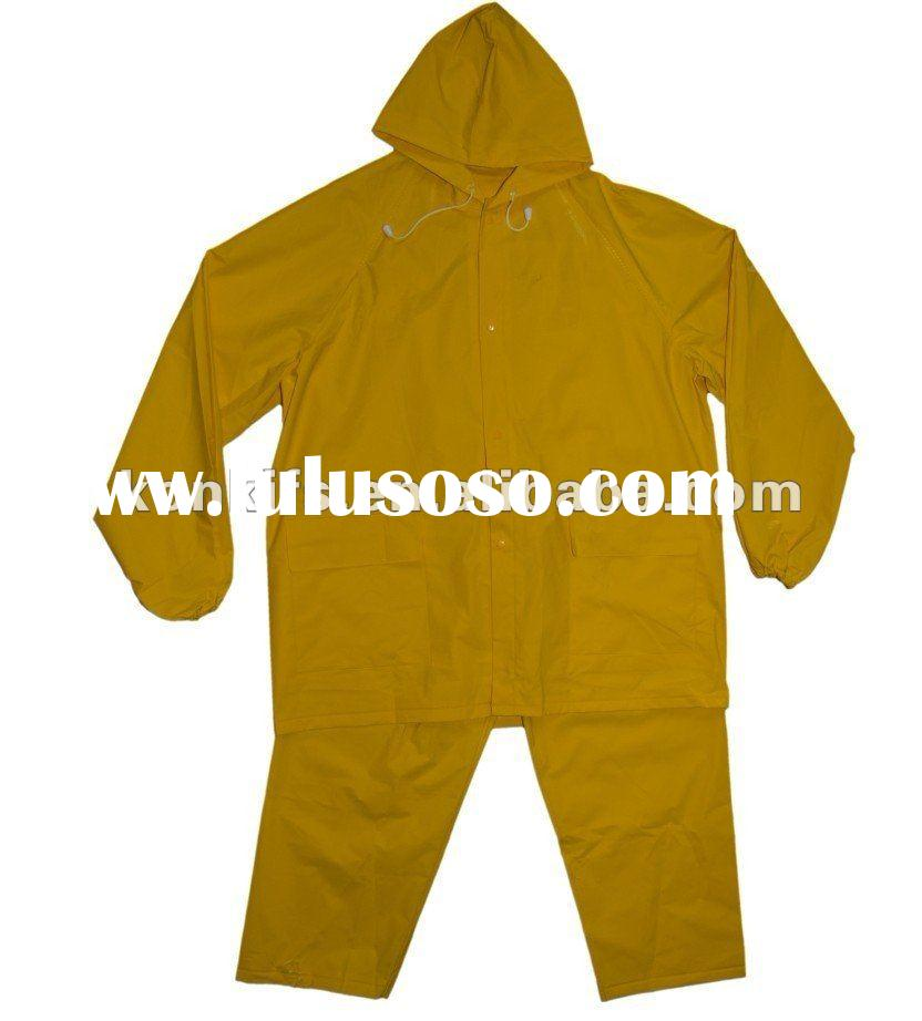 Waterproof Nylon/PVC Raincoat For Men