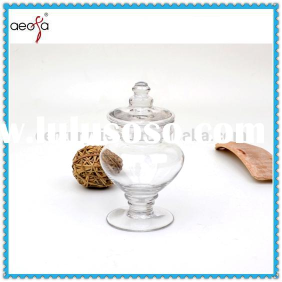 cute small glass candy jars with glass lids