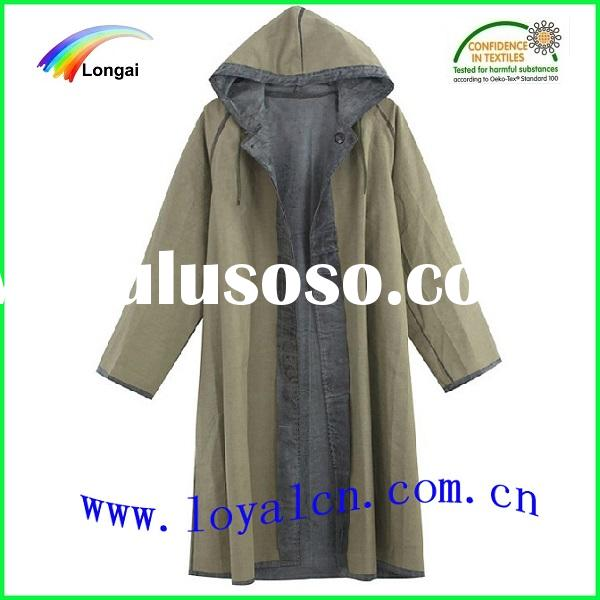 heavy rain PVC waterproof long raincoat for men