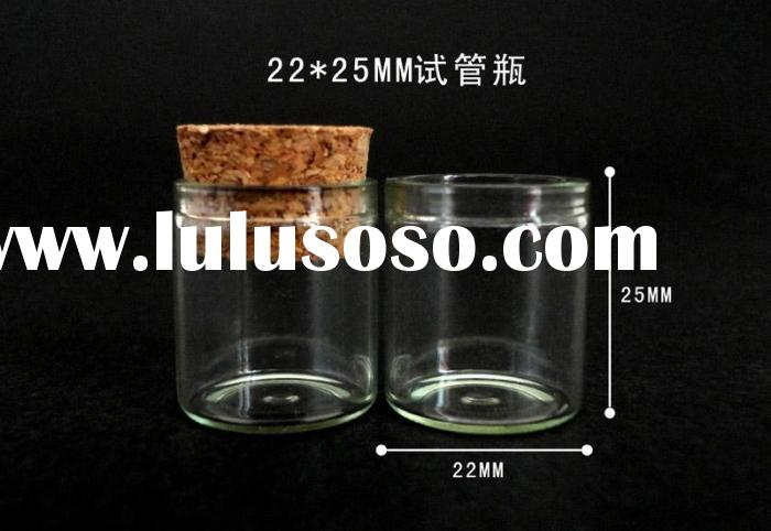 simple and convenient glass jar with stable feature of cork,small glass jars