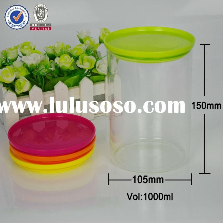 simple glass jar with plastic lid,big glass jar,glass jar for food or dry powdered things