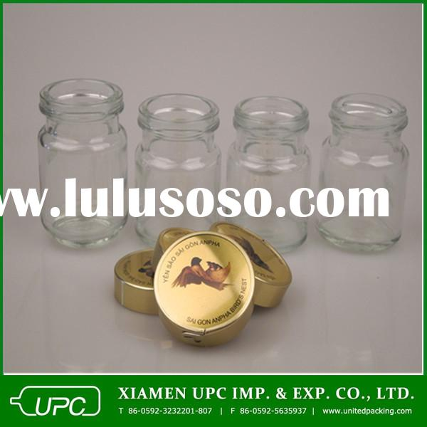 small glass jar with screw top lid for jam