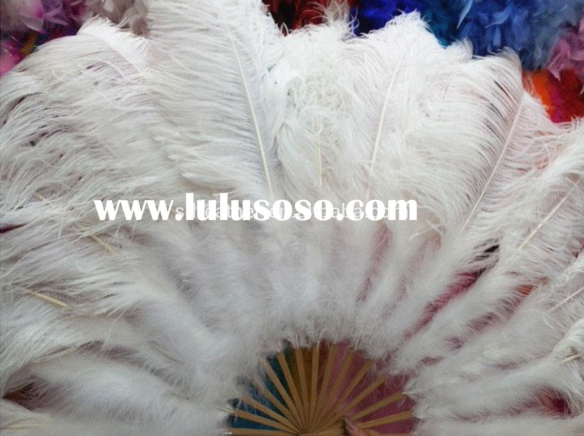 15 staves Belly Dance Large Ostrich Feather Fan Belly Dance Accessory