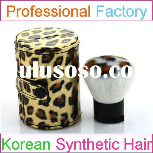 dispenser powder foundation kabuki brush with leopard print makeup brush case
