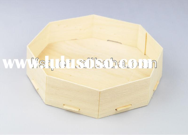 Disposable Wooden Sushi Box/Candy Box, Disposable Food Container