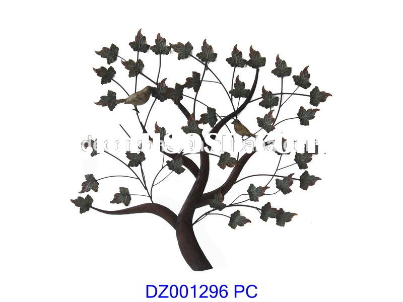 Metal family tree wall decor metal family tree wall decor for Arbre mural en fer forge