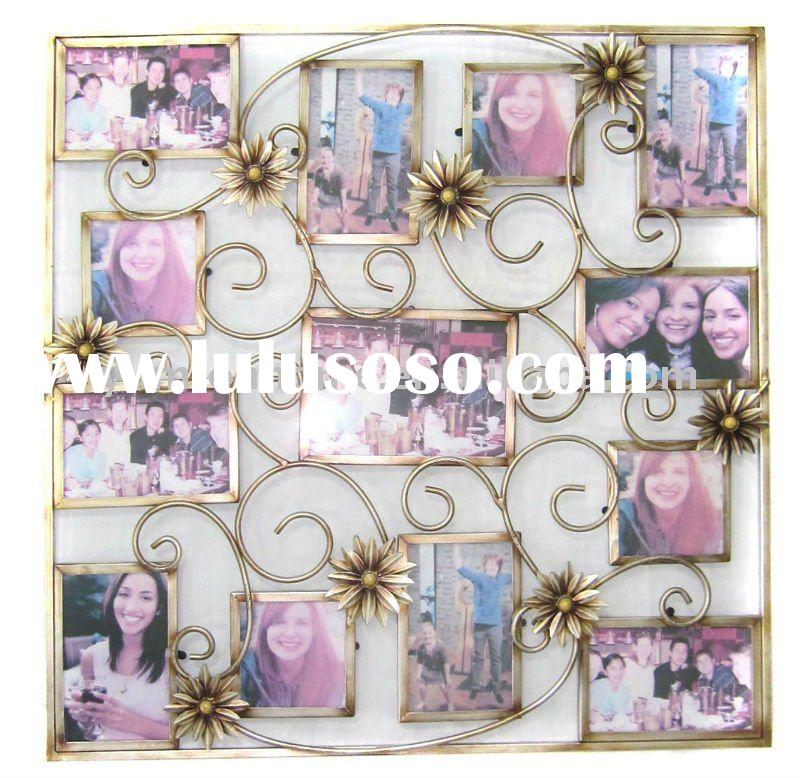decorative metal family tree collage wall photo frame