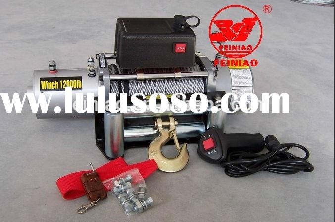 6000lbs long rope 110v small electric winch