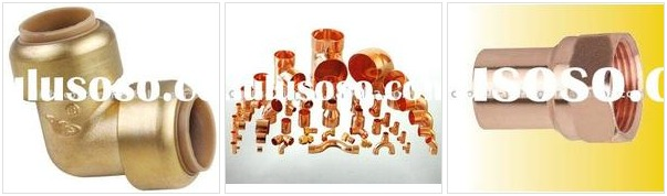 Solderless copper pipe fittings